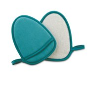 Exfoliating Facial Mitt, teal