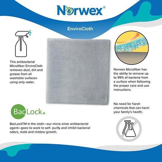 Norwex Antibacterial Antimicrobial Microfiber Window Polishing Cloth by Norwex